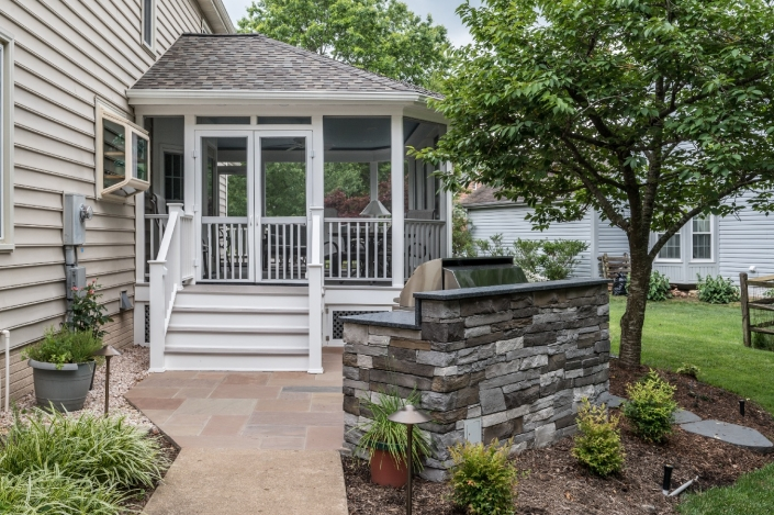Patio and screen porch addition in Centreville