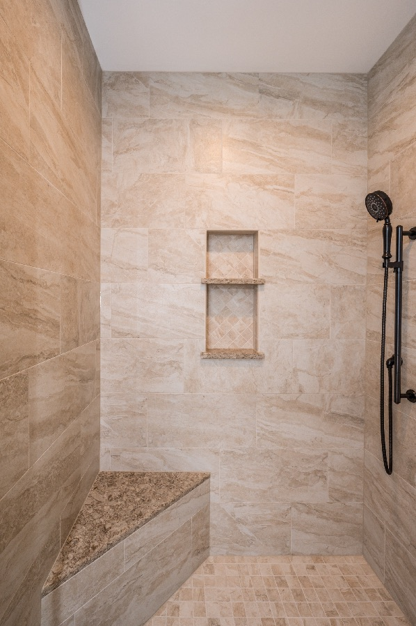 Custom shower enclosure bathroom remodel in Haymarket, VA
