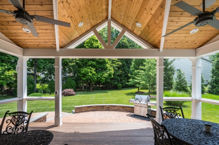Outdoor living in Springfield with patio addition including covered and uncovered seating