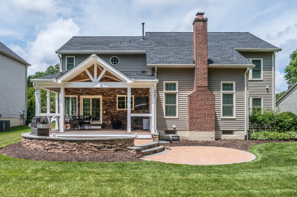Patio addition with grilling area for outdoor living in Springfield