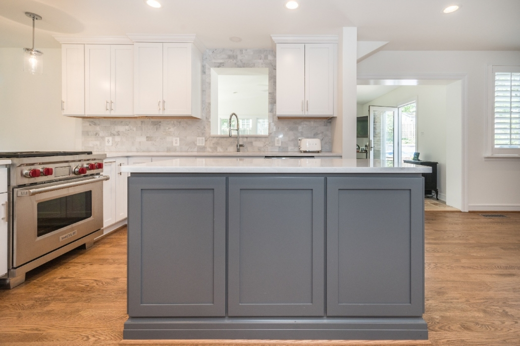 Kitchen remodel design build Alexandria, VA with custom cabinetry and island
