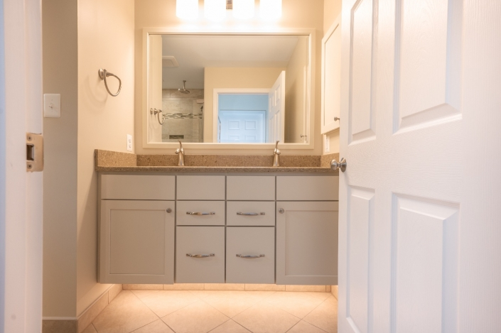 bathroom remodel fairfax station transitional with under cabinet lighting