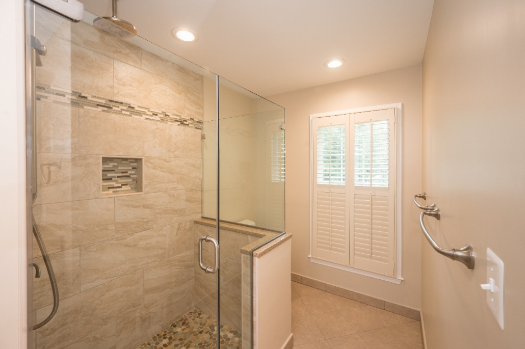 fairfax station bathroom remodel frameless glass shower enclosure