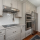 Kitchen remodel, galley style, Alexandria, VA with Waypoint cabinets, Top Knob hardware and Silestone countertops
