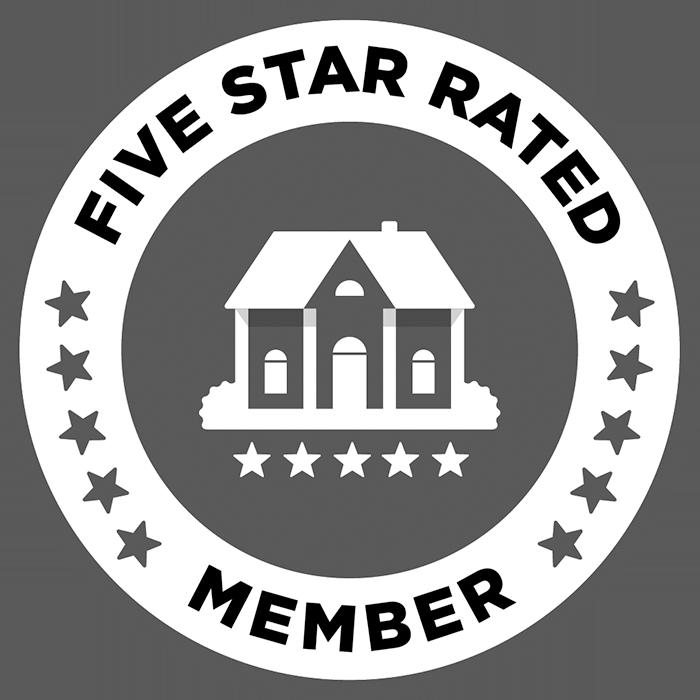 five star rated member badge