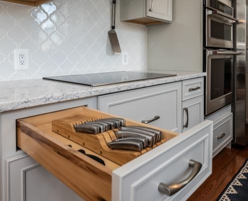 kitchen remodel knife storage