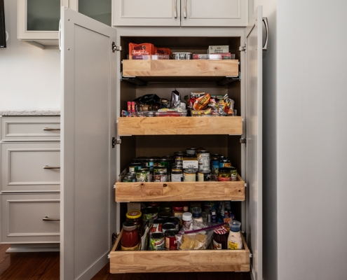 kitchen remodel after pics pantry cabinet