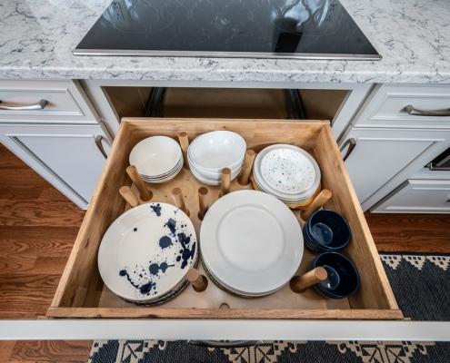 kitchen remodeling plate storage