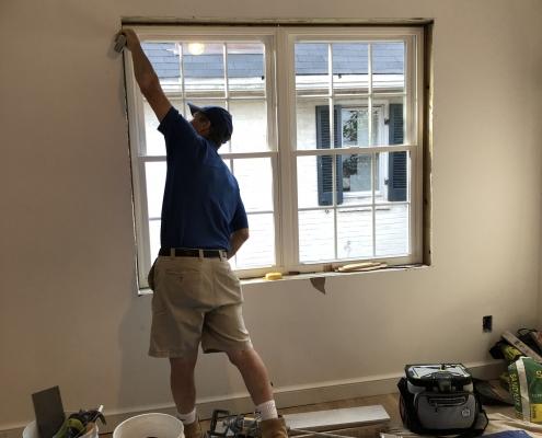 contractors working on home
