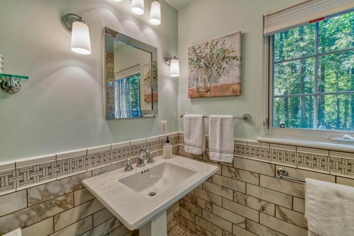 Bathroom Remodel Falls Church with Kohler Memoirs white pedestal sink